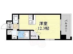 PHOENIX Clove Tomoi 7階ワンルームの間取り