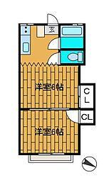 ミサワコーポ[2階]の間取り