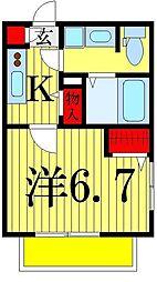 東京都江戸川区北小岩4丁目の賃貸アパートの間取り