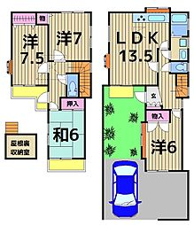 [一戸建] 茨城県守谷市松前台2丁目 の賃貸【茨城県 / 守谷市】の間取り