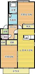 クロワール2000 A棟[1階]の間取り
