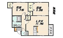 [タウンハウス] 広島県広島市安佐南区山本5丁目 の賃貸【/】の間取り