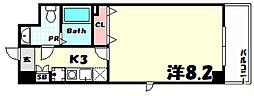 カリエンテ三宮[6階]の間取り
