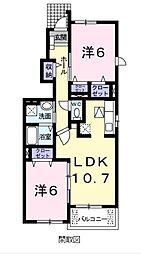 ヴィラ和泉砂川2[1階]の間取り