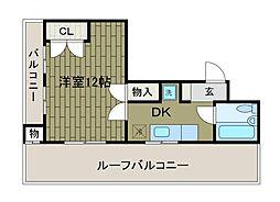 シャンボール相模原[6階]の間取り