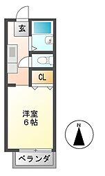 カウルミ[2階]の間取り