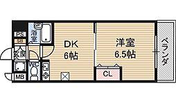 日大ロイヤル西中島[6階]の間取り