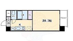 アクアプレイス京都東寺 5階1Kの間取り