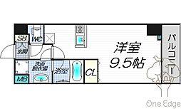 AXIS UMEKITA[2階]の間取り