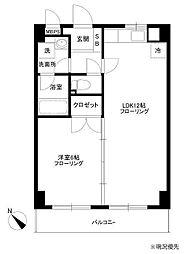 フィオーレ新横浜[702号室]の間取り