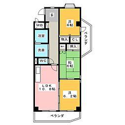 栄ma[2階]の間取り