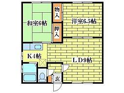 小野マンション[1階]の間取り