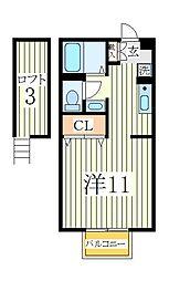 クレストA[2階]の間取り