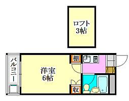 ジュネパレス津田沼第29[1階]の間取り