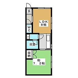 フローレンス305号館[2階]の間取り