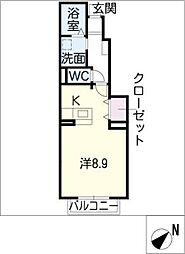 サン・ブリーズ24[1階]の間取り