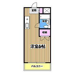 東京都日野市南平5丁目の賃貸マンションの間取り