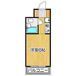 フェミニデンス・アミ'88[2階]の間取り