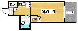 サンライズ牧野[1階]の間取り