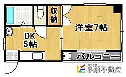 コスミック片江[205号室]の間取り