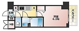 大阪府大阪市中央区安堂寺町2丁目の賃貸マンションの間取り