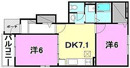 グランフレイム斎院[103 号室号室]の間取り