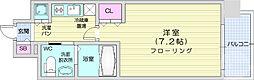エルスタンザ仙台上杉 10階1Kの間取り