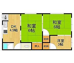 北園アパート[2号室]の間取り