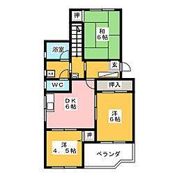 ティーハイム小笠原[1階]の間取り