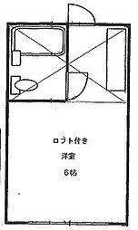 サンハイム霞ヶ関[203号室]の間取り