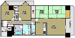ファミール竹城台[2階]の間取り