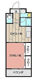 ニューシティアパートメンツ南小倉II[906号室]の間取り