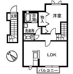シャーメゾンY[2階]の間取り