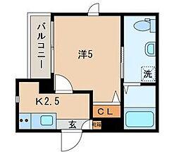 JR山手線 鶯谷駅 徒歩6分の賃貸マンション 3階1Kの間取り