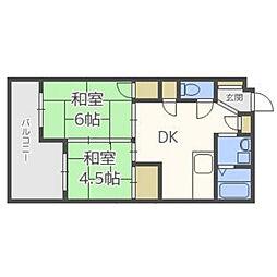 博多大洋ビル[R301号室]の間取り
