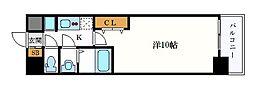 名古屋市営名城線 久屋大通駅 徒歩6分の賃貸マンション 15階1Kの間取り