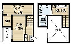 愛知県名古屋市中村区大正町1丁目の賃貸アパートの間取り