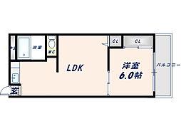 アニメティ深江橋[2階]の間取り