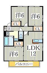 リビングタウン南青山C[2階]の間取り