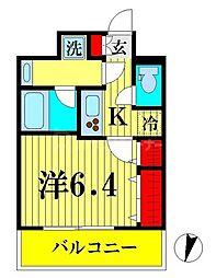 JR総武線 両国駅 徒歩9分の賃貸マンション 4階1Kの間取り