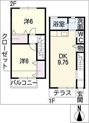 [タウンハウス] 愛知県江南市赤童子町福住 の賃貸【/】の間取り