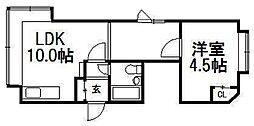 カーサチェリベ2[2階]の間取り