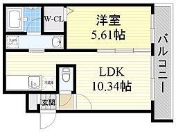 北海道札幌市中央区南13条西7丁目の賃貸マンションの間取り