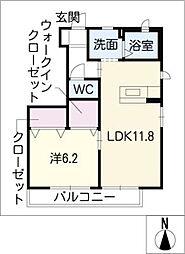 ヴァンクール[1階]の間取り