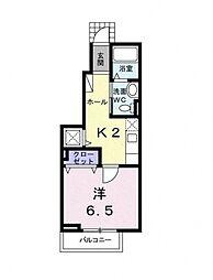 マハロ[1階]の間取り