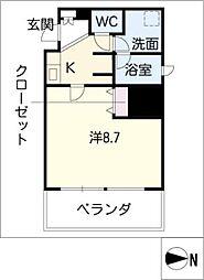 マストスタイル東別院[14階]の間取り