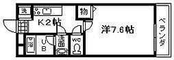アンシャンテ元町[6号室]の間取り