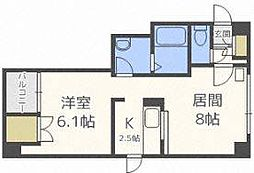 エスポワール204(9階建)[5階]の間取り