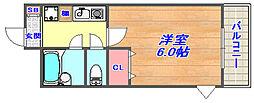 兵庫県神戸市灘区福住通5丁目の賃貸マンションの間取り