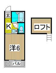 ラシェール神明[1階]の間取り